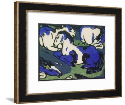 Ruhende Pferde-Franz Marc-Framed Giclee Print