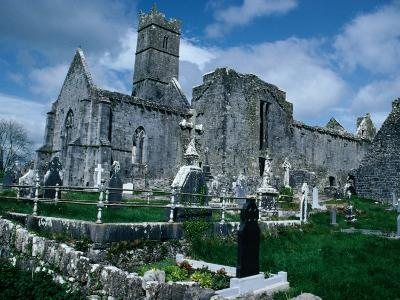 Ruin of Ennis Friary, Founded by O'Brien Kings of Thomond in 13th Century, Ennis, Ireland-Tony Wheeler-Photographic Print
