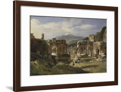 Ruine du théatre de Taormine (Sicile)-Achille Etna Michallon-Framed Giclee Print