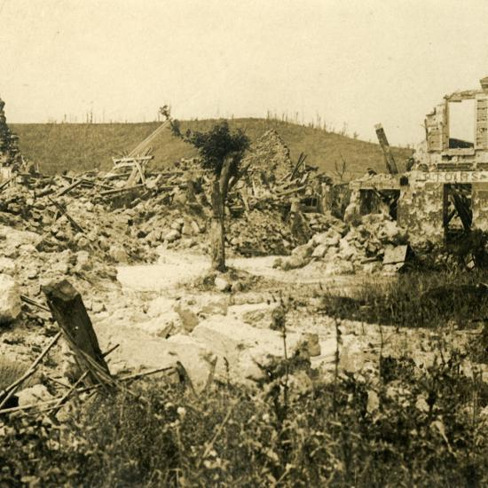 Ruined buildings, Chavignon, northern France, c1914-c1918-Unknown-Photographic Print