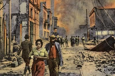 Ruined Buildings on Egnatia Street, Salonika, Greece, World War I, 1917--Photographic Print