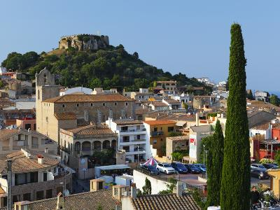Ruined Castle Above Old Town, Begur, Costa Brava, Catalonia, Spain, Europe-Stuart Black-Photographic Print