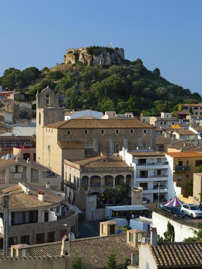 Ruined Castle Above Old Town, Begur, Costa Brava, Catalonia, Spain, Europe-Stuart Black-Photographic Print