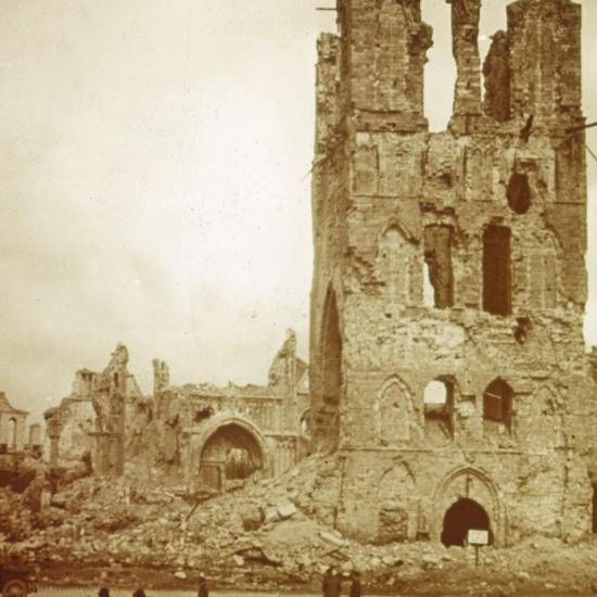 Ruined cathedral, Ypres, Flanders, Belgium, c1914-c1918-Unknown-Photographic Print