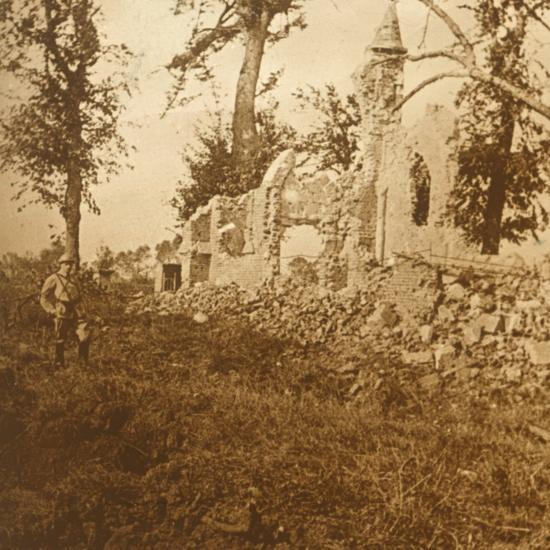 Ruined chapel, 1914-c1918-Unknown-Photographic Print