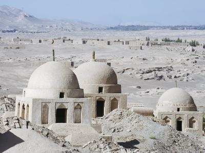 Ruined City of Jiaohe, Turpan on the Silk Route, Xinjiang Province-Christian Kober-Photographic Print