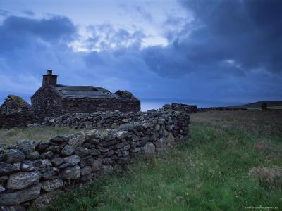 Ruined Croft at Sound, Yell, Shetland Islands, Scotland, United Kingdom, Europe-Patrick Dieudonne-Photographic Print