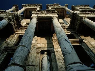 Ruined Facade of the Library of Celsus in Ephesus-James L^ Stanfield-Photographic Print