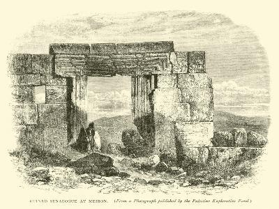 Ruined Synagogue at Meiron--Giclee Print