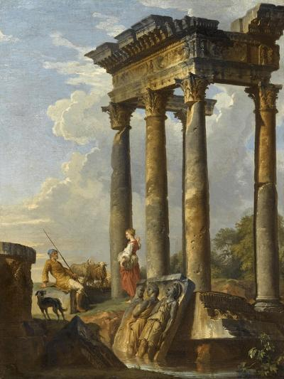 Ruines antiques-Giovanni Paolo Pannini-Giclee Print