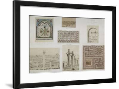 Ruines de Théveste (Tebessa, Algérie) : monastère. Vue perspective des écur-Albert Ballu-Framed Giclee Print