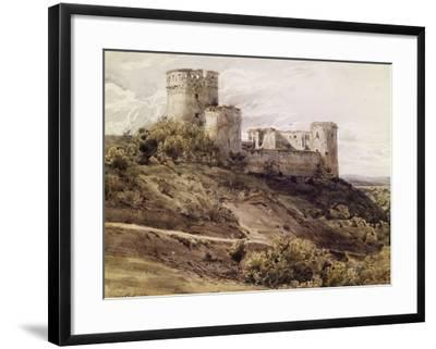 Ruines du château de Coucy-Antoine Alphonse Montfort-Framed Giclee Print