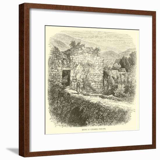 Ruins at Caesarea Philippi--Framed Giclee Print