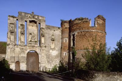 Ruins at Entrance of Nantouillet Castle, Ile-De-France. France, 16th Century--Giclee Print