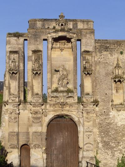 Ruins at Entrance of Nantouillet Castle, Ile-De-France--Giclee Print