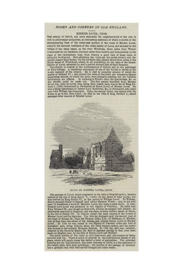 Ruins at Minster Lovel, Oxon--Giclee Print