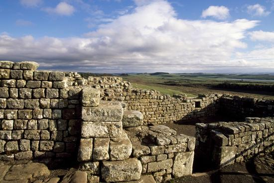 Ruins at the Southern Entrance, Housesteads Roman Fort, Hadrian's Wall--Photographic Print