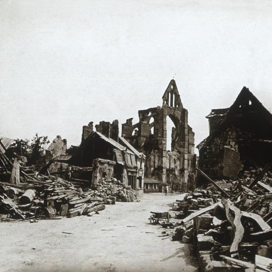 Ruins, Craonne, northern France, c1914-c1918-Unknown-Photographic Print