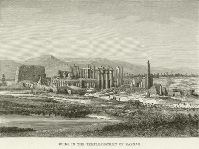 Ruins in the Temple-District of Karnak--Giclee Print