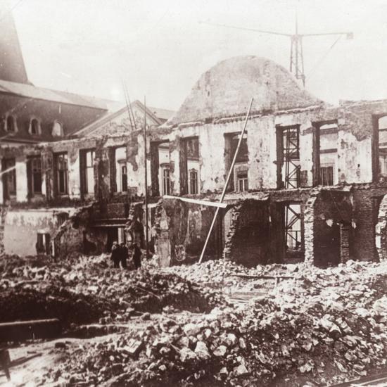 Ruins, Louvain, Belgium, c1914-c1918-Unknown-Photographic Print