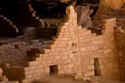 Ruins of a Cliff Dwelling, Long House, in Mesa Verde National Park-Phil Schermeister-Photographic Print