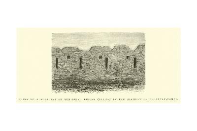 Ruins of a Fortress of Sun-Dried Bricks-?douard Riou-Giclee Print
