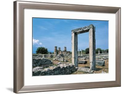 Ruins of a Roman Forum, Philippi, East Macedonia and Thrace, Greece--Framed Giclee Print