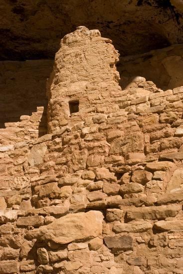 Ruins of a Small Cliff Dwelling, Step House, in Mesa Verde National Park-Phil Schermeister-Photographic Print