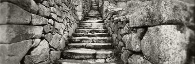 Ruins of a Staircase at an Archaeological Site, Inca Ruins, Machu Picchu, Cusco Region, Peru--Photographic Print