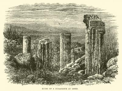 Ruins of a Synagogue at Irbid--Giclee Print