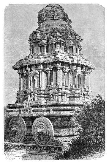 Ruins of a Temple in Hampi, India, 1895-Bertrand-Giclee Print