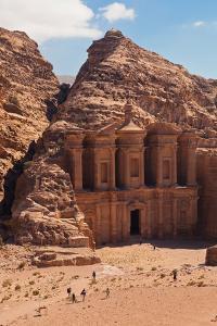 Ruins of Ad Deir Monastery at Ancient Nabatean City of Petra, Wadi Musa, Ma'an Governorate, Jordan