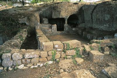 Ruins of Bronze Age Building, 12th Century Bc, Luni Sul Mignone, Lazio, Italy--Photographic Print