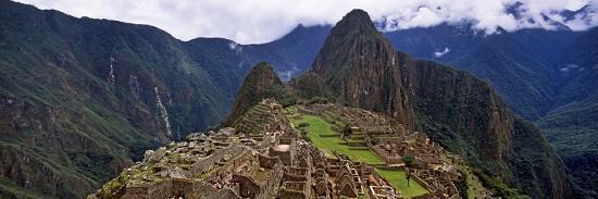 Ruins of Buildings at an Archaeological Site, Inca Ruins, Machu Picchu, Cusco Region, Peru--Photographic Print