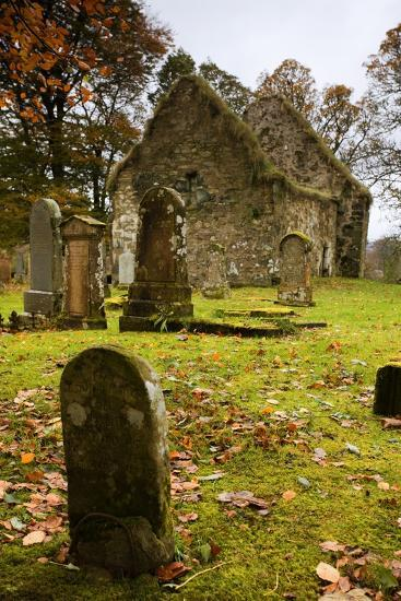Ruins of Church and Graveyard; Argyl and Bute, Scotland, Uk-Design Pics Inc-Photographic Print