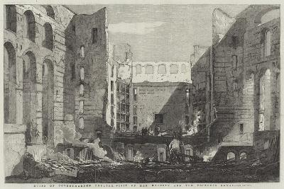 Ruins of Covent-Garden Theatre, Visit of Her Majesty and the Princess Royal-Richard Principal Leitch-Giclee Print