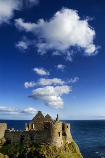 Ruins of Dunluce Castle on the Antrim Coast, Northern Ireland-Chris Hill-Photographic Print