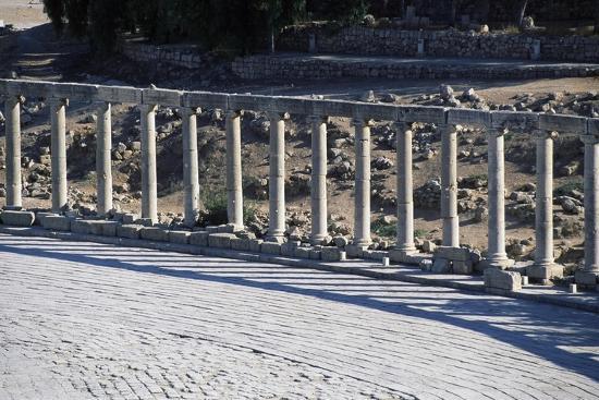 Ruins of Forum of Jerash, Jordan Ad--Giclee Print