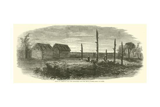Ruins of Garrett's Barn and Out-Houses Near Port Royal, Where Booth Was Shot, April 1865--Giclee Print