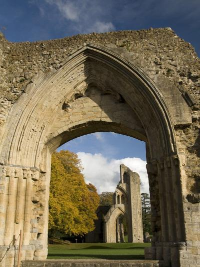 Ruins of Glastonbury Abbey, Glastonbury, Somerset, England, United Kingdom, Europe--Photographic Print