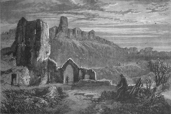 'Ruins of Hastings Castle', c1880-Unknown-Giclee Print