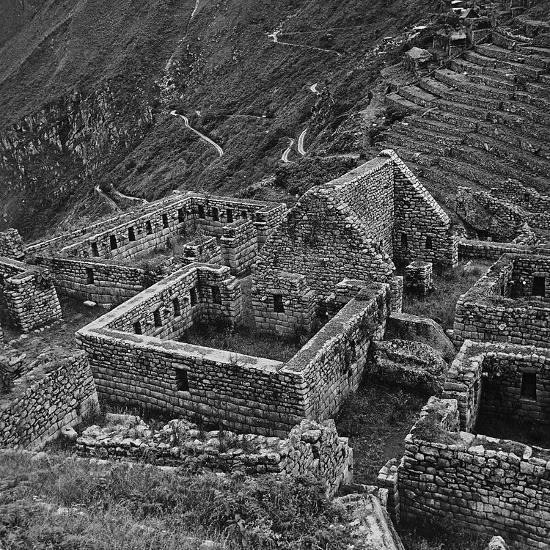 Ruins of Houses of the Lost City of the Incas, Machu Picchu, Peru-Pietro Ronchetti-Photographic Print