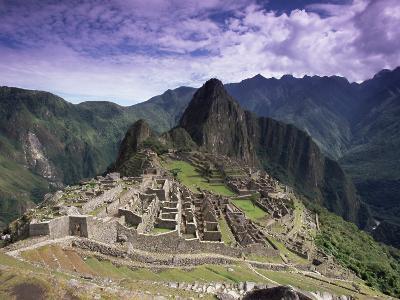 Ruins of Inca City in Morning Light, Urubamba Province, Peru-Gavin Hellier-Photographic Print
