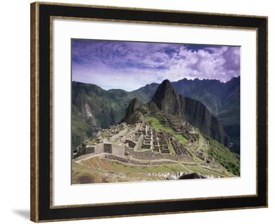 Ruins of Inca City in Morning Light, Urubamba Province, Peru-Gavin Hellier-Framed Photographic Print