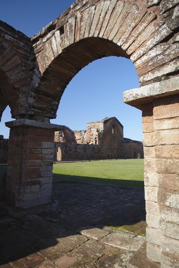 Ruins of Jesuit Mission at Trinidad, UNESCO Site, Parana Plateau, Paraguay-Ian Trower-Photographic Print