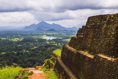 Ruins of King Kassapa's Palace in Front of the View from of Sigiriya Rock Fortress (Lion Rock)-Matthew Williams-Ellis-Photographic Print