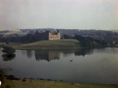 Ruins of Linlithgow Palace Reflect in Tranquil Waters of Nearby Lake-B^ Anthony Stewart-Photographic Print
