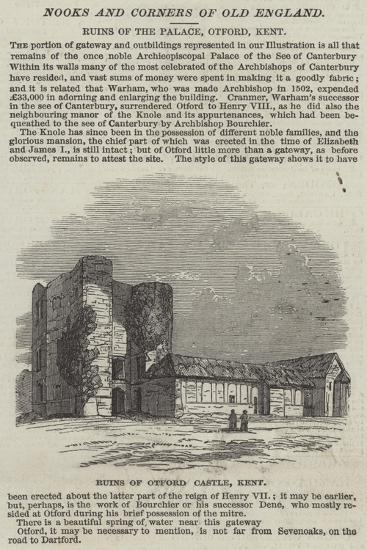 Ruins of Otford Castle, Kent--Giclee Print