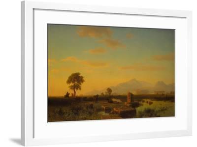 Ruins of Paestum, 1858-Albert Bierstadt-Framed Giclee Print