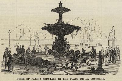 Ruins of Paris, Fountain in the Place De La Concorde--Giclee Print